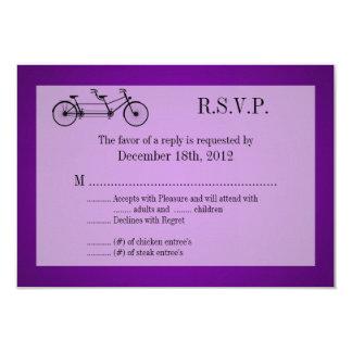 3x5 R.S.V.P. Reply Card Purple Double Bike 9 Cm X 13 Cm Invitation Card