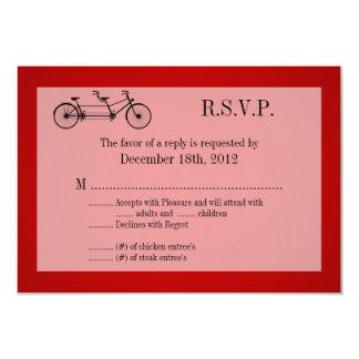 3x5 R.S.V.P. Reply Card Red Double Bike 9 Cm X 13 Cm Invitation Card