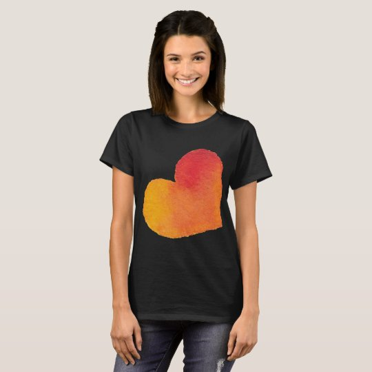 3x Black Watercolor Heart Shirt