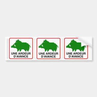 3x STICKER CONVEYS wild boar - a HEAT IN ADVANCE