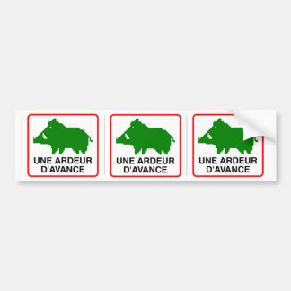 3x STICKER CONVEYS wild boar - a HEAT IN ADVANCE Bumper Sticker