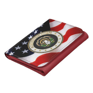 [400] Acquisition Corps (AAC) Branch Insignia [3D] Leather Wallets