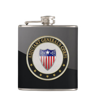 [400] Adjutant General's Corps Branch Insignia [3D Hip Flask