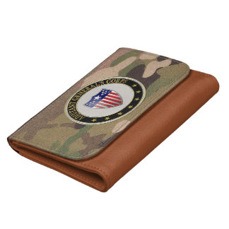 [400] Adjutant General's Corps Branch Insignia [3D Leather Wallet For Women