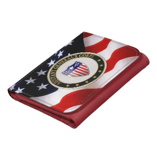 [400] Adjutant General's Corps Branch Insignia [3D Leather Wallets