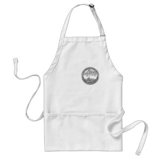 [400] Celtic Tree of Life [Silver] Standard Apron