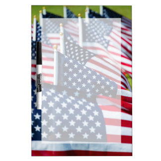 400 flags waving proudly in a field Dry-Erase board
