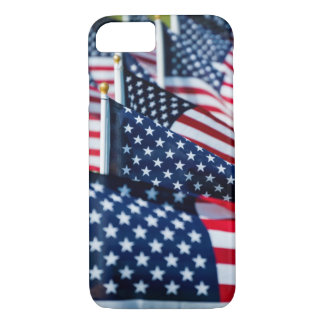 400 flags waving proudly in a field iPhone 7 case