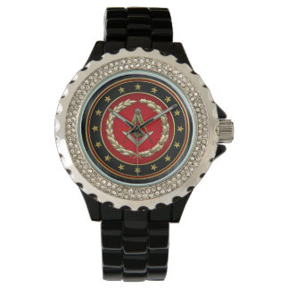 [400] Masonic Square and Compasses [3rd Degree] Wrist Watches