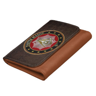 [400] Master Mason - 3rd Degree Square & Compasses Leather Wallets