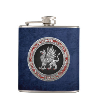 [400] Sacred Silver Griffin Hip Flask