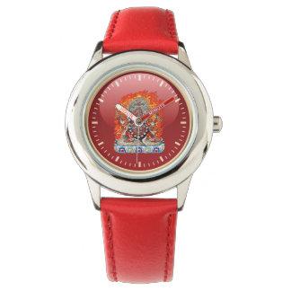 [400] Tibetan Thangka  - Wrathful Deity Hayagriva Wrist Watch