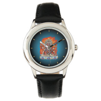 [400] Tibetan Thangka  - Wrathful Deity Hayagriva Wristwatch