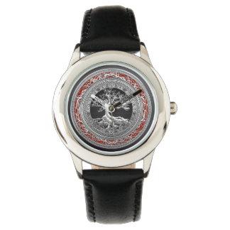 [400] Treasure Trove: Celtic Tree of Life [Silver] Wristwatch