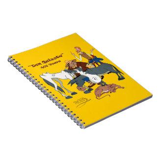 400 Years Don Quixote @QUIXOTEdotTV Spiral Notebooks