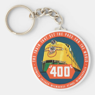 400Train Basic Round Button Key Ring