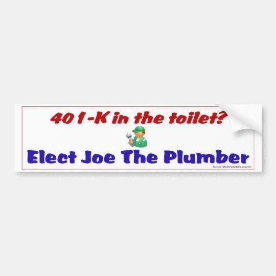 401-K inthe toilet? Bumper Sticker