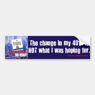 401k Pocket Change Bumper Sticker