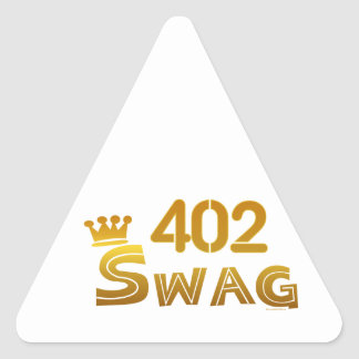 402 Nebraska Swag Triangle Sticker