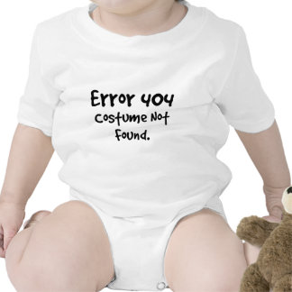 404 Costume not found Black text Baby Bodysuits