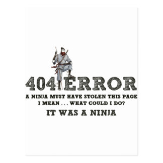 404 Ninja - ReasonerStore Postcard