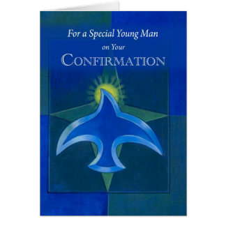 4051 Young Man Confirmation Greeting Card