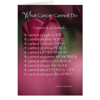 4055 What Cancer Cannot Do,  Religious Card