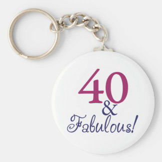 40 and fabulous (40th Birthday) Key Ring