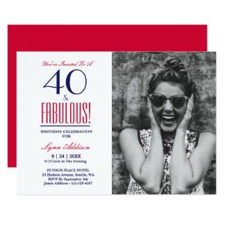 40 and Fabulous! 40th Birthday Party Invitation