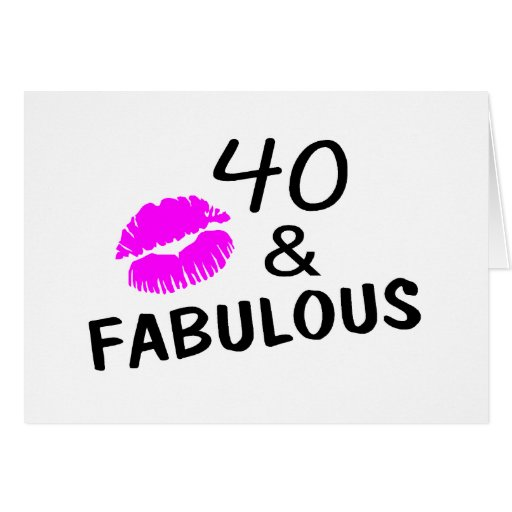 40 And Fabulous (Black And Pink) Cards