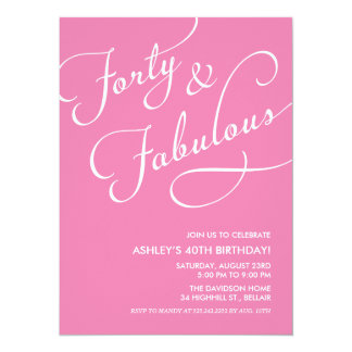 40 and Fabulous Invitations