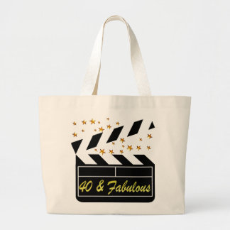 40 AND FABULOUS MOVIE QUEEN LARGE TOTE BAG