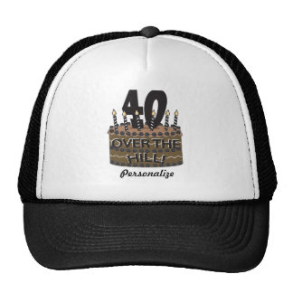 40 and Over the Hill | 40th Birthday | Diy Name Cap