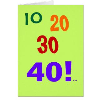 40 and Still Accounting! - 40th Birthday Card