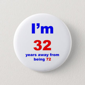40 Birthday 6 Cm Round Badge
