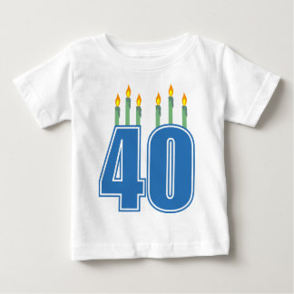 40 Birthday Candles (Blue / Green) Baby T-Shirt