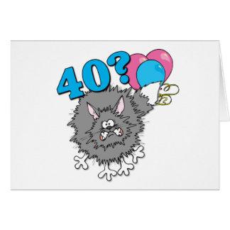 40 Birthday Cat Gift Greeting Card