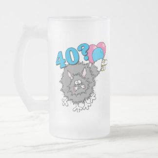 40 Birthday Cat Gift Mugs