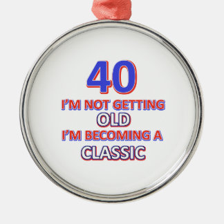 40 birthday designs christmas ornament