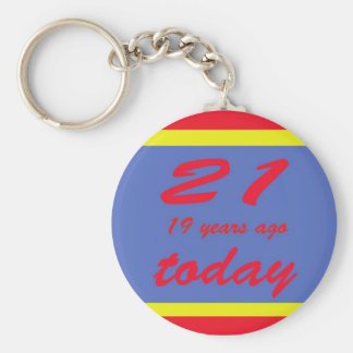 40 birthday key ring