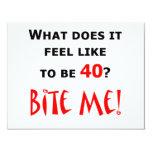 40 Bite Me! Personalized Announcement