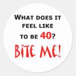 40 Bite Me! Round Stickers