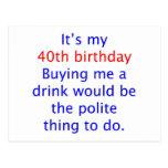 40 buy me a drink
