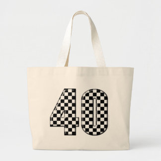 40 checkered number tote bags
