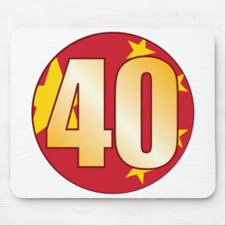 40 CHINA Gold Mouse Pad