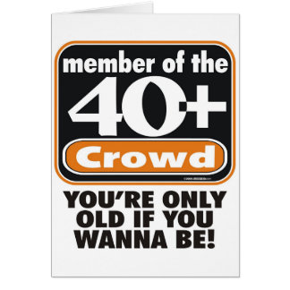 40+ Crowd Greeting Card