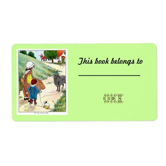 40 Customisable Bookplates /Nameplates Shipping Label