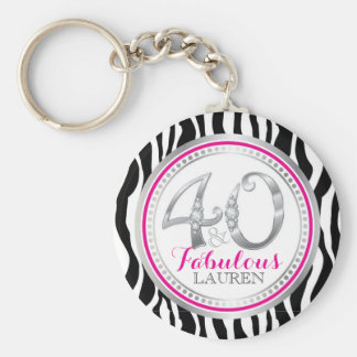 40 & Fabulous Birthday Key Chain