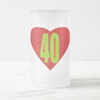 40 FROSTED GLASS MUG