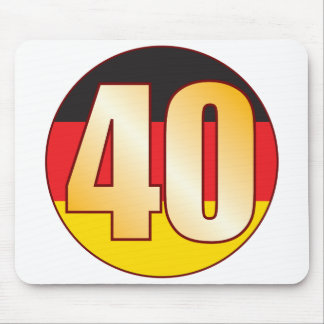 40 GERMANY Gold Mouse Mat